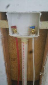 Washer box shut off valves