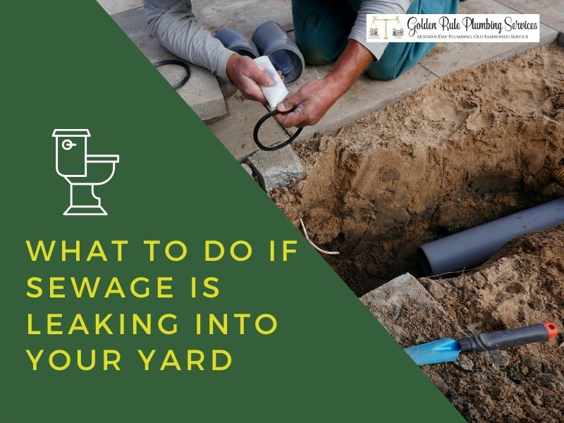 What To Do if Sewage is Leaking Into Your Yard